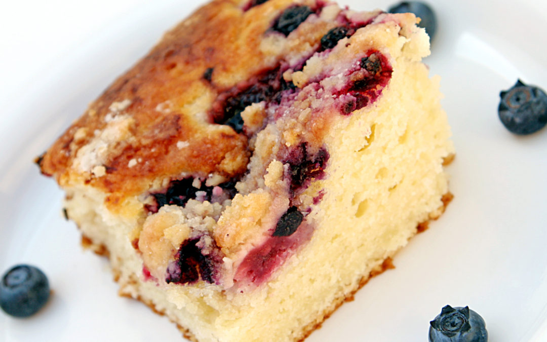 Sour Cream Blueberry Coffee Cake